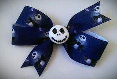 The Nightmare Before Christmas hair bow clip by puffycheeksbowteek, $4.50