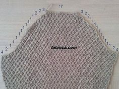 The most preferred arm-cutting technique in knitting sweaters is . Baby Knitting Patterns, Knitting Designs, Knitting Projects, Crochet Patterns, Knitting Basics, Knitting Stitches, Hand Knitting, Filet Crochet, Knit Crochet