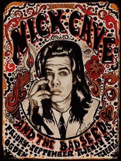 Nick Cave Denver 2008  Posters > Music Posters Designer: Darren Grealish Edition: 210 Dimensions: 18 x 24 Condition: MINT Date: 2008...