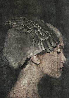 """""""Angel"""" by Sarah Jarrett #mixed #media"""