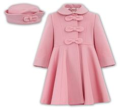 Widgeon Girls Hot Pink Fuchsia Double Breasted A-Line Dress Coat ...