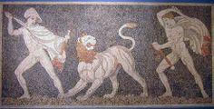 Alejandro y Cratero en la caza del leon, Pella, Macedonia
