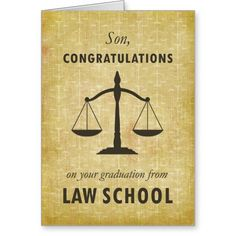 Son, Law School Graduation Congratulations Sc Card