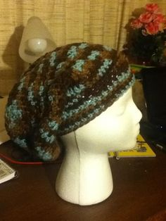 Earth and Sky Funky Crochet Slouch Hat