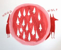 GRAPHIC / CONCEPT _ Wolf and Hood by Hazel Terry, _ #littleredridinghood #redridinghoodart