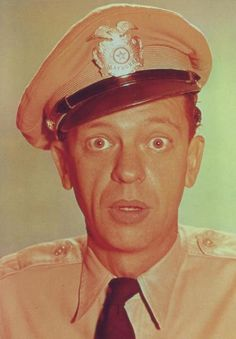 A postcard of Barney Fife from the Andy Griffith show