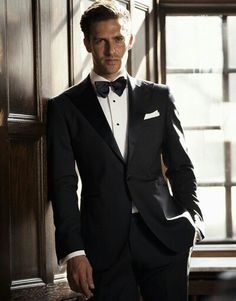 Black suit bow tie