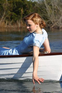 "Rachel McAdams as ""Allie Hamilton"" during the production of ""The Notebook"", 2004"