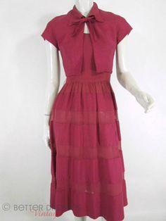40s/50s Dress & Bolero Set - xs, sm