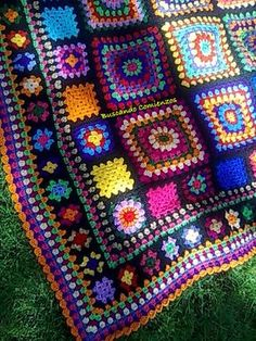 Ideas Crochet Afghan Squares Patchwork Blanket Knitting Patterns For 2019 Crochet Squares Afghan, Granny Square Crochet Pattern, Crochet Blanket Patterns, Crochet Motif, Granny Squares, Crochet Granny, Knit Patterns, Crochet Afghans, Crochet Blankets