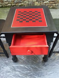 Love this Broyhill table and chairs.  Painted Emperior's Silk and Black.