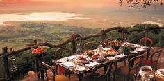 This is a great article on some truly spectacular restaurants around the world! We love the Ngorongoro Crater Lodge in Tanzania, guests can sit at their tables feasting on Pan-African duck kumquat while the native wildlife dot nature's canvas below. World renowned as a place of absolute wonder. #bucketlist #honeymoon #safari
