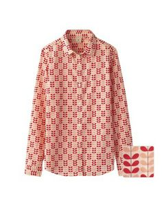 Orla Kiely for Uniqlo: Orla Kiely L/S Shirt in Pink