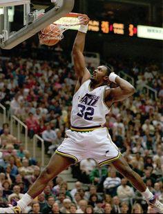 Karl Malone of the Utah Jazz