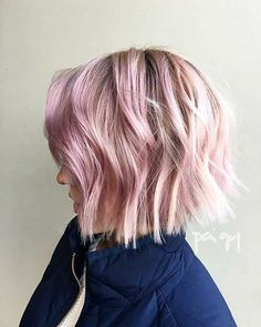 23-Short Pink Hairstyle