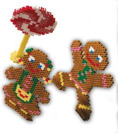 Christmas gingerbread kids perler fuse beads