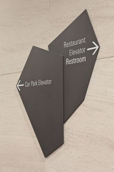 Category: Wayfinding/Interior Environment Designer: Bentuk Source: bentuk.com Inspiration: I enjoy the two freeform shapes joined together.