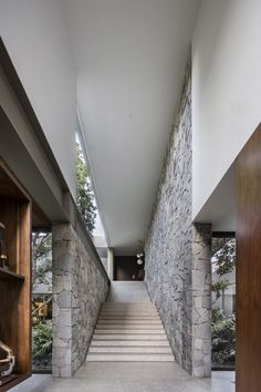 Gallery of VR House / Alexanderson Arquitectos 9 Basement Stairs Alexanderson Arquitectos Gallery House Modern Architecture House, Residential Architecture, Modern House Design, Modern Interior Design, Architecture Details, Interior Architecture, Modern Tropical House, Chinese Architecture, Futuristic Architecture