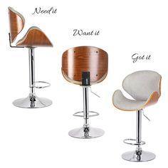 Contemporary Bar Stools, Bent Wood, Wood Stool, Counter Stools, Houzz, Tango, Gray, Leather, Home Decor