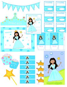 Thema prinses, free printables / How to Have a Fun Princess Party for Kids