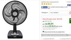 Ventilador de Mesa Arno Alivio Maxx 30cm 4 Pás 3 velocidades VA3P << R$ 8991 >>