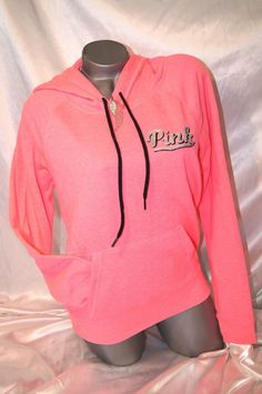 Victorias Secret Pink Half Zip Sweatshirt Large Hi Low Leopard ...