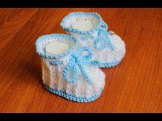 Пинетки крючком. Мастер класс. Baby booties, crochet DIY - YouTube