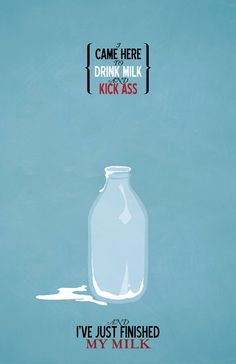 Kick Ass and Drink Milk // Vintage Inspired by TheGeekerie on Etsy