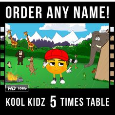 The Kool Kidz 5 Times Table teaches children quickly and easily! Watch your child recite their times table with no effort at all. See the joy on their faces when they hear their name featured in their own personalised video!