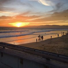 Sunset #venice #California #sunset #beautiful #photography #beach #venicebeach