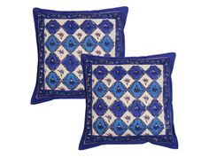 Fun Cushion Cover(Set of 2)  A contemporary accessory with hints of heritage craft, these cushion covers have a rich Rajasthan handwork that calls for attention. Spun in cotton, these are available in a set of 2.   Rs.299/-