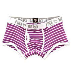 Pink Heroes Newly Comfortable Panties Men Underwear Men's Boxer Underwear Sexy Striped Cotton Underwear Boxer Fringe Underpants
