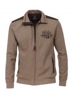 Unifarbene Sweatjacke - Pullover & Strick - CASAMODA