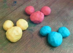 Primary Play dough Roll into balls.