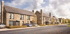 Bespoke contemporary housing development in Sacriston, County Durham, delivering a range of two to four bedroom family homes. New Classical Architecture, Brick Architecture, Architecture Visualization, Residential Architecture, Contemporary Architecture, Modern Brick House, Brick Construction, Small Modern Home, Interesting Buildings