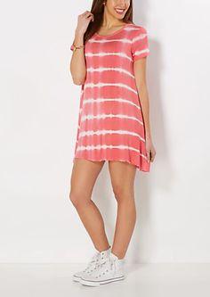 image of Coral Tie-Dyed Tent Dress Tent Dress, Dress Skirt, Lace Dress, Junior Party Dresses, Girls Party Dress, Pretty Dresses, Beautiful Dresses, 70s Fashion, Fashion Dresses