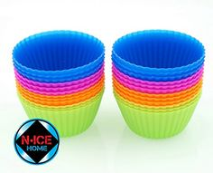 24pcs Silicone Baking Cups - 4 Colors, Cupcake Liners for Replacing Your Paper Bake Cups, Muffin Cups, Cupcake Holder, Muffin Liners, Cake Molds, Cupcake Wrappers (24) http://kitchenammo.com/store/kitchen/24pcs-silicone-baking-cups-4-colors-cupcake-liners-for-replacing-your-paper-bake-cups-muffin-cups-cupcake-holder-muffin-liners-cake-molds-cupcake-wrappers-24/