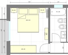 hotel planos Imagen 2 Bild 2 This image has get 58 - hotel Hotel Room Design, Bedroom Bed Design, Bedroom Layouts, House Layouts, Small House Plans, House Floor Plans, Master Bedroom Addition, Master Bedroom Plans, Bedroom Size