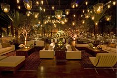 Outdoor party seating ideas hanging lights new Ideas Wedding Reception Seating, Wedding Lounge, Seating Chart Wedding, Outdoor Hanging Lanterns, Hanging Lights, Hanging Candles, Outdoor Lighting, Salas Lounge, Lounge Party