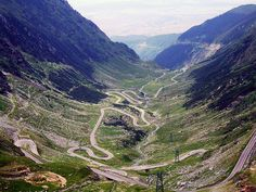 Transfagarasan Highway, Romania. I want to drive this road more than the Autobahn.