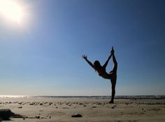"Yoga Poses Around the World: ""Dancing on the beach"""