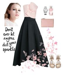 """""""Don't ever let anyone dull your sparkle"""" by rolitacooper on Polyvore featuring moda, St. John, Delpozo, Valentino, Chopard, Elie Saab y Jimmy Choo"""