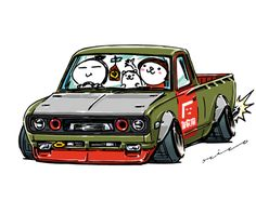 """crazy car art"" jdm japanese old school ""620"" original characters ""mame mame rock"" / © ozizo Official web shop ""STAY CRAZY (in Society6)"" Official web shop ""ozizo(in Redbubble)"" ""Crazy Car Art"" Line stickers ""Crazy car Art"" Telegram stickers"
