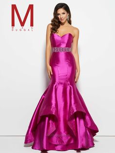 Mac Duggal designer dresses have turned heads for 30 years. Discover why his prom dresses, pageant gowns and couture dresses are so desirable Prom Dresses 2016, Pink Prom Dresses, Beautiful Prom Dresses, Dressy Dresses, Mermaid Prom Dresses, Bridal Dresses, Strapless Dress Formal, Formal Gowns, Prom 2016