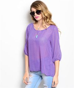royal pink top - open sleeve - $22.50