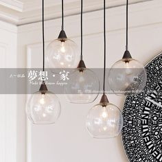 Glass ball restaurant lamp dining table bar lighting modern brief personality pendant lamps _ {categoryName} - AliExpress Mobile Dining Room Lighting, Lamp, Beautiful Floor Lamps, Pendant Lamp, Bar Lighting, Floor Lamp Design, Diy Pendant Lamp, Decorative Floor Lamps, Dining Table Lighting