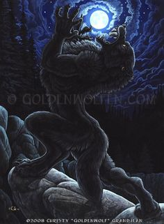 """""""October Moon"""" by Christy """"Goldenwolf"""" Grandjean Prints available: http://www.goldenwolfen.com/site/?page_id=43"""