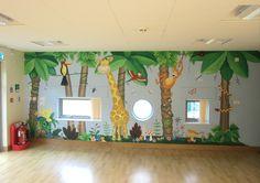 Simply Decorating jungle wall mural