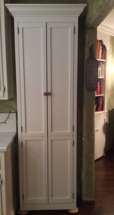 Tall skinny pantry & Narrow skinny tall wooden cabinet storage shelves wood pantry ...
