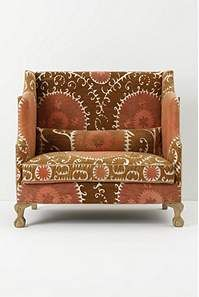 Great little settee from Anthro.  Greenfynch Settee, Vintage Suzani